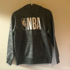NBA Shirts & Tops - NBA hooded pullover sweater grey Boy's sz L 14/16